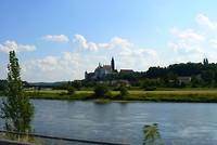 De stad Meisen aan de Elbe.