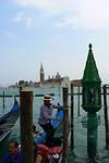 In de verte ligt het eiland van Saint Giorgio Maggiore