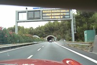 Over de autostrada richting Monte Carlo