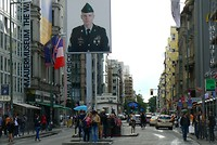Amerikaanse soldaat Checkpoint Charlie
