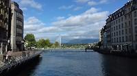 Uitzicht op het meer van Genève