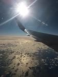 Mooi zicht vanuit het vliegtuig