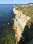 Krijtrotsen, oosten Estland aan Baltische zee