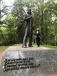 Monument van een Estlandse poëet