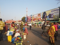Colorful streets in Togo