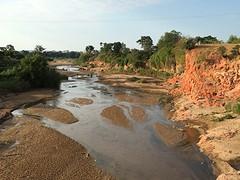 De Lysitu, een kleine zijrivier van de Zambezi. Sorry, maar de volgorde van de foto's is willekeurig