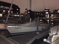 Bakander in de haven van Londen
