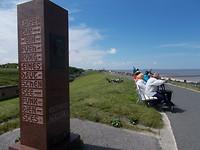 Monument bij Cuxhaven