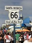 We hebben het gehaald, het eind van route 66!