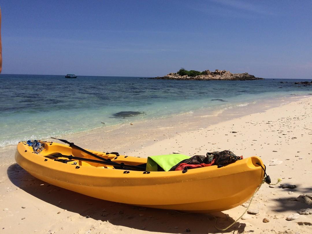 Kayakken op de Perhantian eilanden, Kecil Turtle Beach