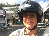 Me op de scooter