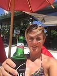 Biertje op t strand
