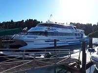 Onze boot naar Puerto Blest