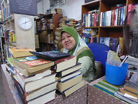 "The Lovely owner of The second hand bookstore""your languagebookscorner"""