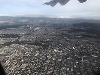 Guatemala Cuidad vanuit de lucht
