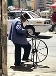 op straat in La Paz