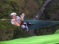 Zipline with hammocks