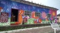 Muurschilderingen in Apaneca