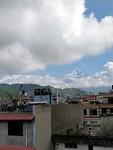 Uitzicht van de witte bergen