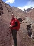 Laatste dag op achtergrond de hoge pas van 5140m