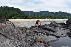 Op de beroemde rots van Tioman eiland
