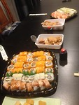 De laatste avond voor vertrek (Sushi !)