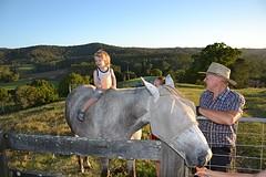 Lorne - Hugo op het paard