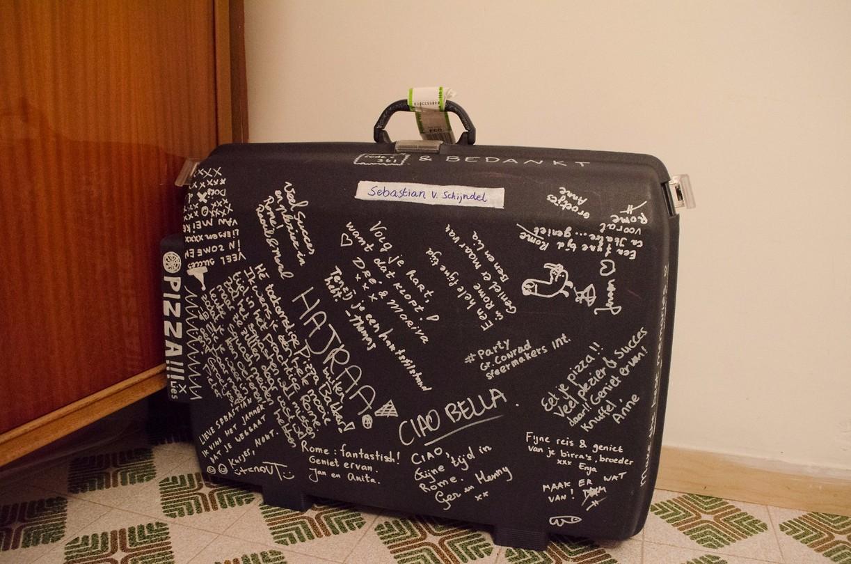 Mijn koffer in de huidige staat