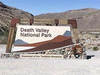 Toegangsbord Death Valley NP