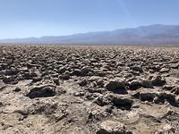 Devils Golf Course in Death Valley NP, zoutvlakte