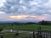 Prachtig avonduitzicht vanaf balkon bij Gasterei Reischmann