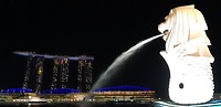 Merlion & Marina Bay