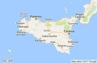 Landkaart Sicilie