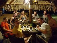 Uit eten de eerste avond bij Pirates Bay.