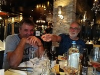Tiel uit eten, Richard en Frans.