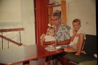 Samen met mijn vader en mijn broer.