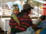 Peruaanse vrouw met kind