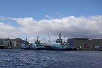 Rescue ships in Hammerfest harbor