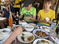 Lunch tijden fietstocht Co van Kessel