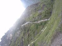 Waterval door onze route