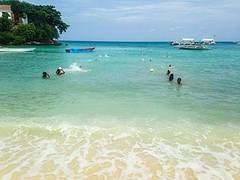 Zwemles in Malapascua