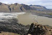 het gletsjermeer van de Skaftafellsjökull