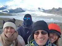 Aan het Fjallsárlon gletsjer meer