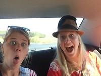 Onze mood in de auto..