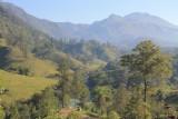 Het adembenemende uitzicht vanuit onze kamer in Semuc