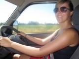 Karolien aan het stuur