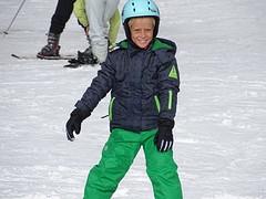 eerste keer op de ski