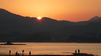 Ondergaande zon op Miyajima