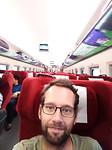 In de sneltrein naar Yangshuo