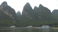 Boten op de Li rivier